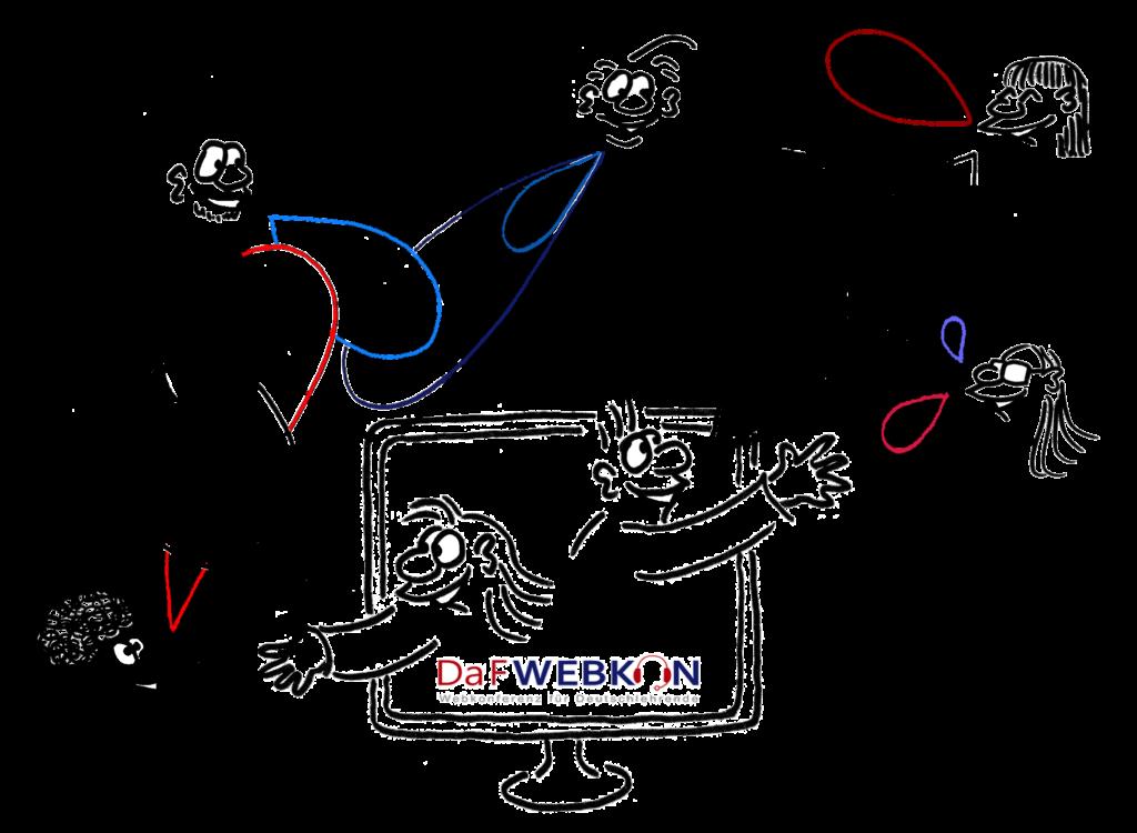 Cartoon multiligual - DaFWEBKON Logo 2020 by Cartoonsbyroth.com