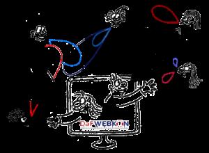 DaFWEBKON Logo 2020 by Cartoonsbyroth.com